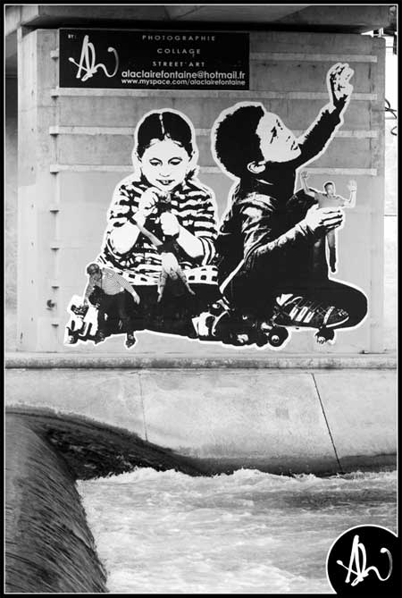 alaclairefontaine urban art