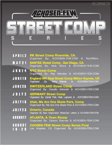 Chosen Few Street Comp Series Flyer