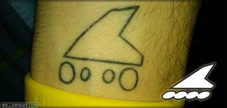 rollerblade tattoo