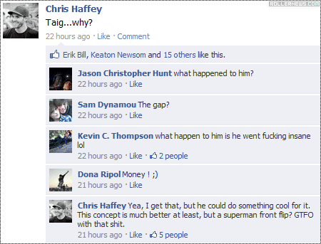 Chris Haffey talking about the Taig Khris Mega Jump