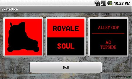 Art of Rolling Skate Dice: Android App