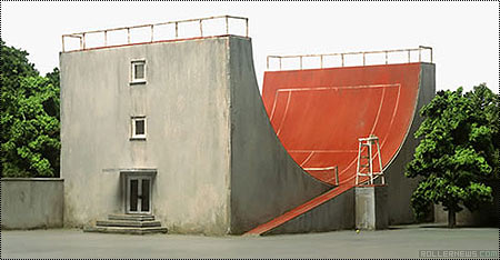 Half Pipe + Tennis Court : Art by Frank Kunert