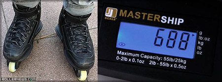 Adapt Skates: 688 grams Boot