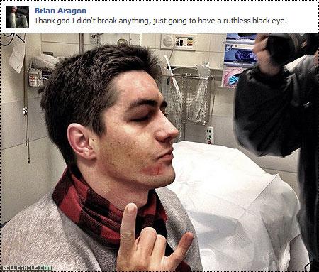 Brian Aragon was badly hurt at the Winterclash