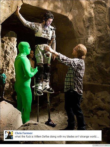 Willem Dafoe on the Set of John Carter (2012)