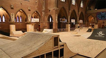 Arnhem Skatehal (Netherlands): Skating in a Church