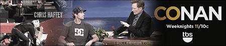 Travis Pastrana & Nitro Circus Perform Freedom Flyers (Conan on TBS), Featuring Chris Haffey