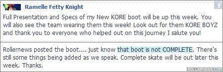 Ramelle Knight: Kore Pro Skates
