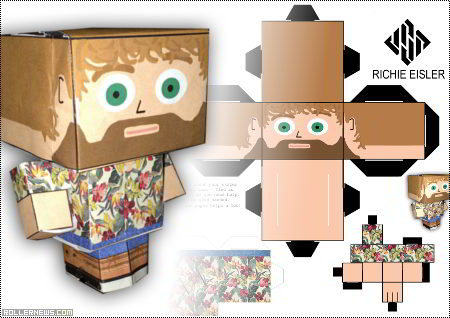 Richier Eisler: Theshadowmarket Paper Toy