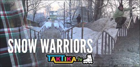 Snow Warriors in Latvia: Skating at -20°C (-4 °F)