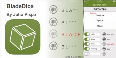 Bladedice app for iPhone