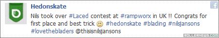 Nils Jansons @ Laced 2014: Best Trick, #1 Pro