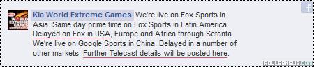 Kia World Extreme Games 2014: Fox TV
