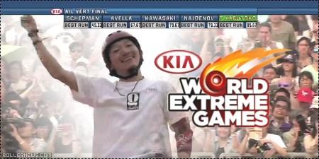 Takeshi Yasutoko: winning run at Kia World Extreme Games 2014 Inline Vert (Shanghai, China)