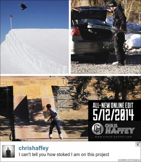 Chris Haffey: New Video - dropping may 12, 2014
