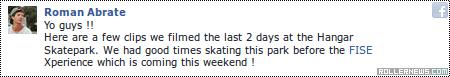 Roman Abrate: Session @ Hangar Skatepark (2014)