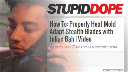 How to properly heatmold Adapt Stealth blades with Julian Bah: Video by Richard Williams