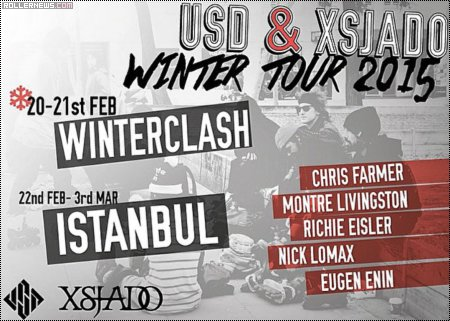 USD & Xsjado Winter Tour 2015: Flyer