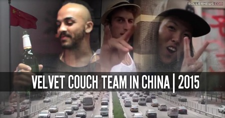 Velvet Couch Team in China (2015) by Mitch Macrae