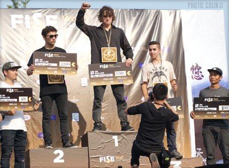 Fise World China 2015 Roller Pro Podium
