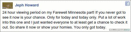 Jeph Howard: Farewell Minnesota (2015)