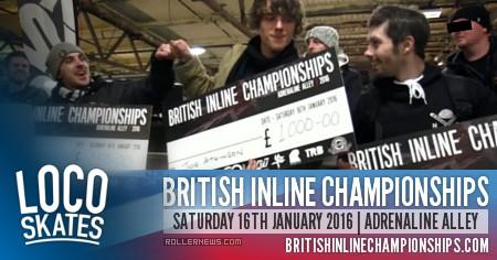 Locoskates @ British Championships 2016 with Joe Atkinson & Elliot Stevens
