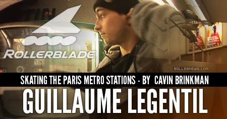Guillaume le Gentil skating the Paris Metro stations