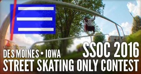 Street Skating Only Contest (SSOC) Iowa, 2016