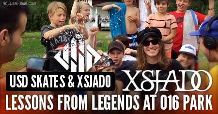 USD Skates & Xsjado - Lessons from legends at ZeroOneSix Skatepark Eskilstuna, Sweden