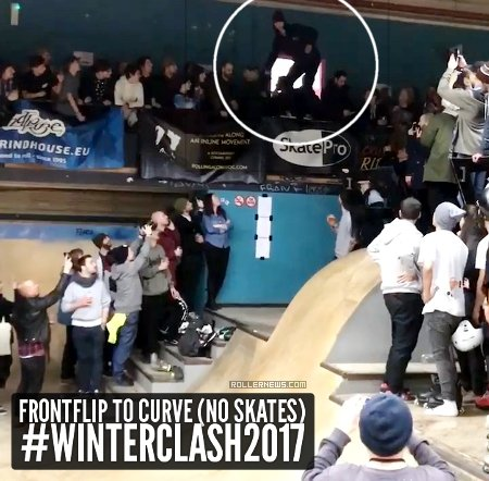 Frontflip to Curve (no skates) at Winterclash 2017