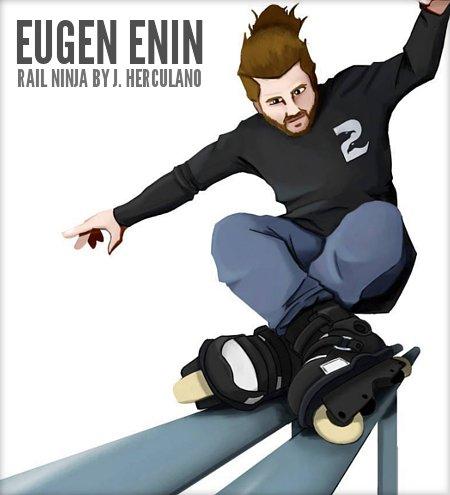 Eugen Enin - Rail Ninja - Artwork by Jeferson Herculano
