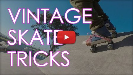 tricks on vintage old school strap on roller skates