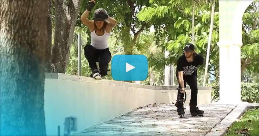 Gaby Velasquez - 1 minute on K2 Skates (2017) by John Goez
