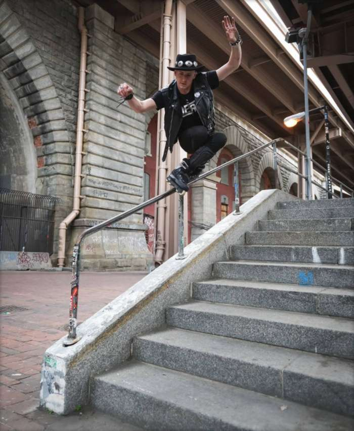 Picture of the day: Chris Farmer - Negative Time at Brooklyn Banks, A Photo by Jon Ortiz