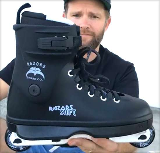 Razors Shift - Frame & Game Changer - Presentation of the skate concept (video)