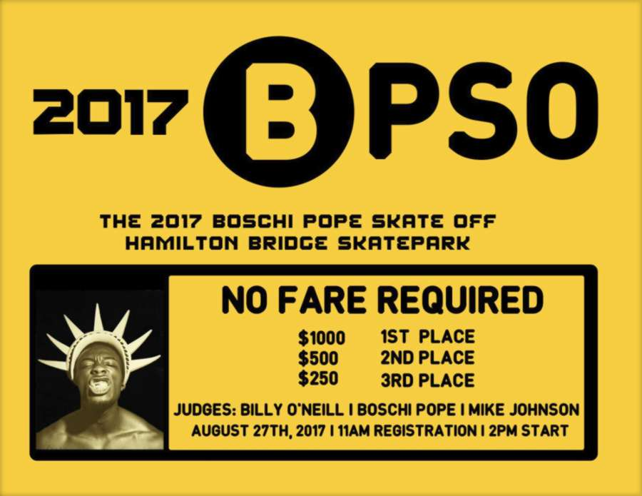 The 2017 Boschi Pope Skate Off (NY)