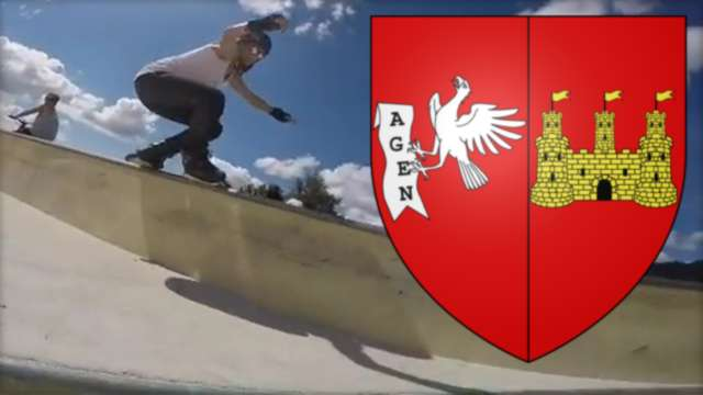 One Minute With Manon Derrien (24) at the Skatepark of Agen (France, 2017)