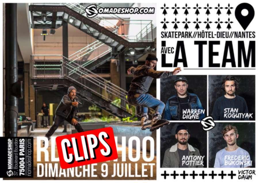 Antony Pottier, Fred Bukowski, Warren Digne, Victor Daum & Stan kogutyak - Nomadeshop Team in Nantes (France) - Clips