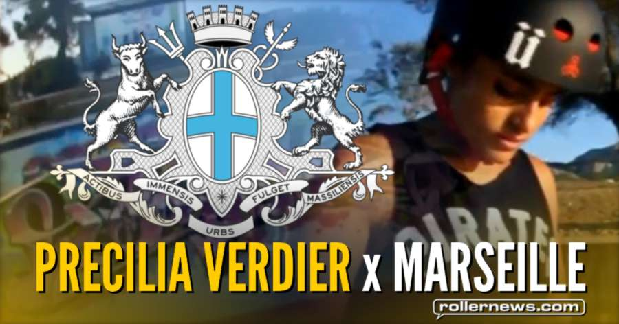 Precilia Verdier Skates the Bowl of  Marseille (France, 2017) - Clips