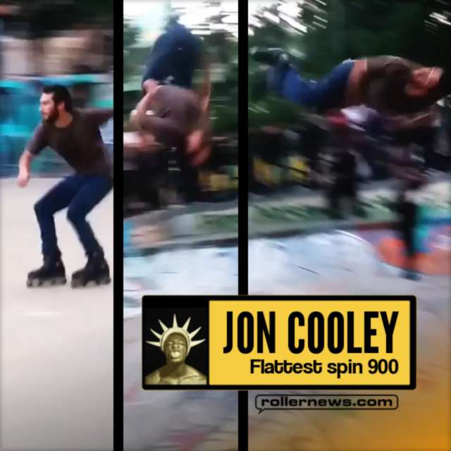 Clip of the day: Jon Cooley with the flattest spin 900 - at The 2017 Boschi Pope Skate Off