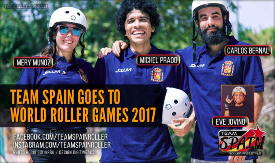 Team Spain Goes to World Roller Games 2017 (FIRS) with Mery Munoz, Michel Prado & Carlos Bernal