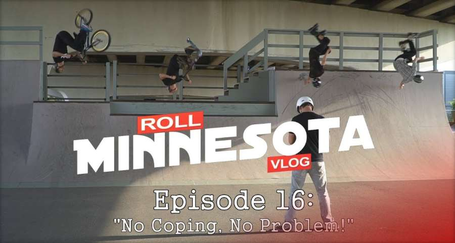 Roll Minnesota Vlog - No Coping No Problem (Overpass Skatepark hidden under a freeway) - September 2017