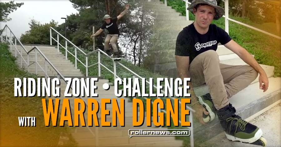 Warren Digne - Riding Zone (French TV Broadcast) - 32 Stairs Kink Challenge (2017)