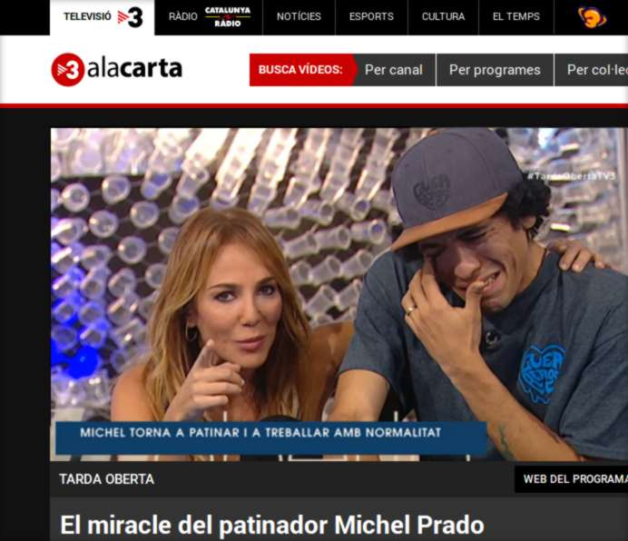 The Miracle of Michel Prado, Pro Skater (TV3 Spain, 2017) - TV Broadcast