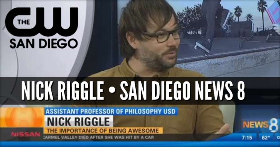 Nick Riggle on TV - Local Professor Writes Book on the Importance of Being Awesome (video)