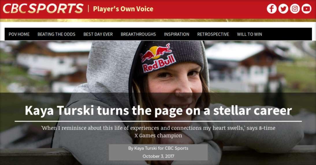 Kaya Turski Turns the Page on a Stellar Career - CBC Sports Canada