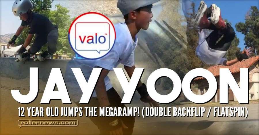 Jay Yoon (Korea) - 12 Year Old Jumps The Megaramp! (Double Backflip / Flatspin)