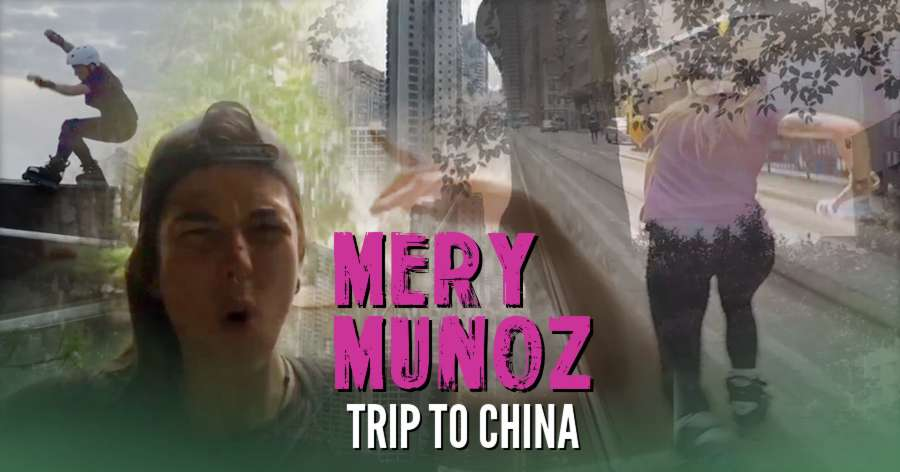Mery Muñoz - Trip to China for the World Roller Games 2017
