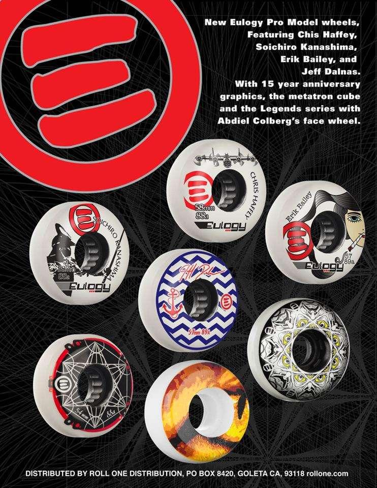 Eulogy Wheels - Chris Haffey, Soichiro Kanashima, Erik Bailey, Jeff Dalnas & more!