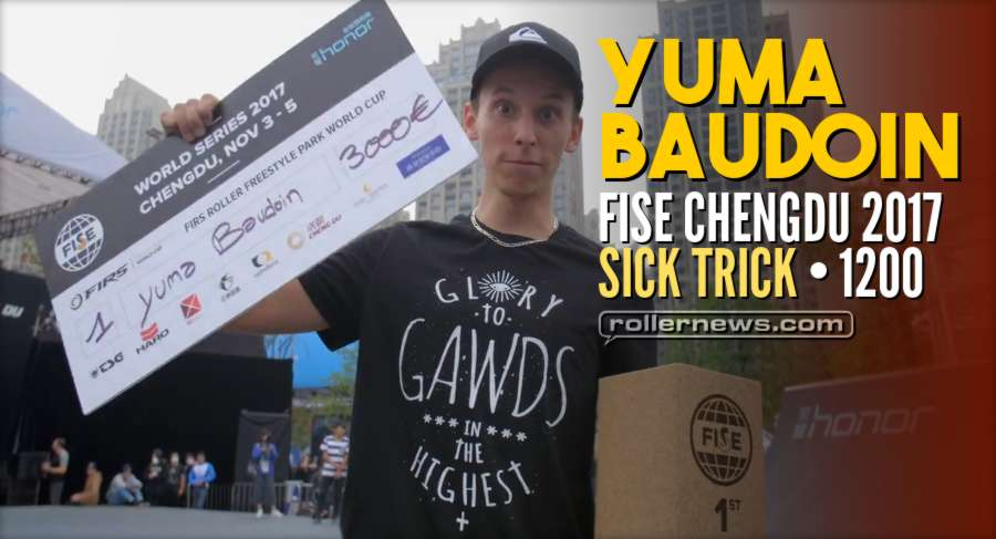Sick Trick: Yuma Baudoin 1200 spin - FISE World Series Chengdu 2017